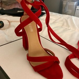 f926628c738 Public Desire Shoes - New Public Desire Red lace up Chunky Heel 8