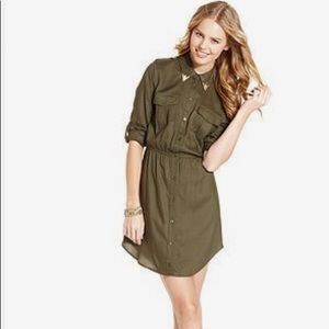 Military Style Juniors Shirtdress/Tunic- Small NWT
