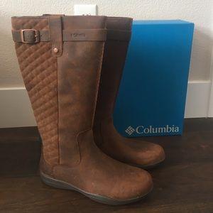 857b12cc142 NIB COLUMBIA Lisa Waterproof Leather Boots sz 9 NWT