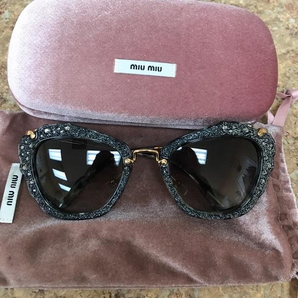 81dcc109c1a Miu miu noir glitter sunglasses. M 59b19406522b4558c9012116