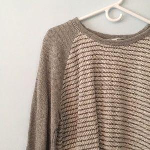 J.Jill striped sweatshirt with pockets