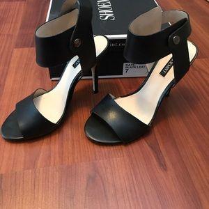 Black Heels - Shoemint Kate-Black Leat