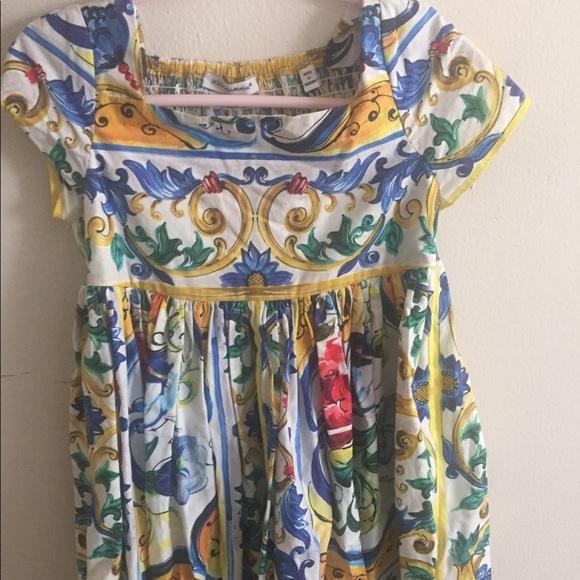 d39ba23270d4 Dolce & Gabbana Dresses | Dolce Gabbana Majolica Dress | Poshmark