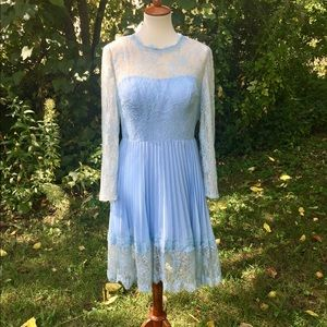 Dresses & Skirts - Sky blue lace formal dress