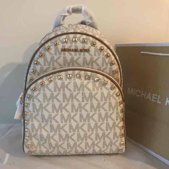 078933a469e6 Michael Kors Bags | Abbey Md Frame Out Stud Backpack | Poshmark