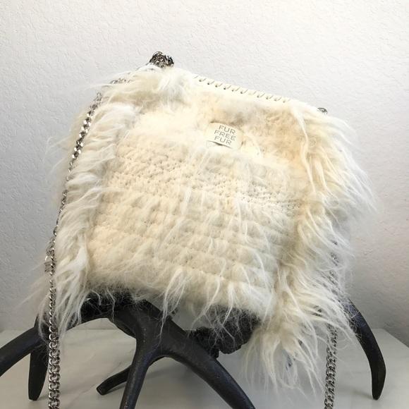 2522315ae2 STELLA MCCARTNEY mini Falabella faux fur tote
