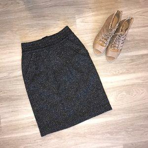CAbi Wool Blend Tweed Pencil Skirt