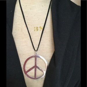 Jewelry - Sterling Silver Peace Pendant Necklace