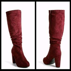 New! Torrid Merlot Suede Boots Size 8