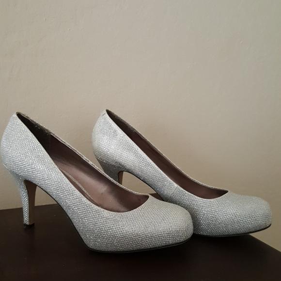 97ee5d371ab Madden Girl 8-8 1/2 Silver Glitter Heels