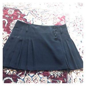 Agnes b black pleated mini skirt 40 6