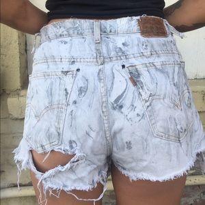 Levi's Shorts - Destroyed Levi's High Waist Short