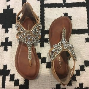 0263c4afec48 Gianni Bini Shoes - Gianni Bini jeweled flat sandals