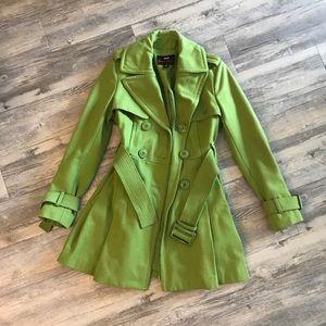 Miss Sixty Pea Green Peacoat ❗️Final Price❗️