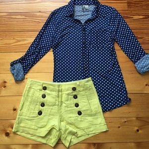 Pants - Yellow sailor shorts