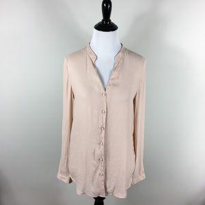 H&M Blush Long Sleeve Blouse 2 XS