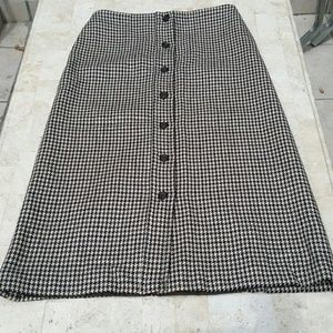 Michael Kors Wool A line Skirt Button Down