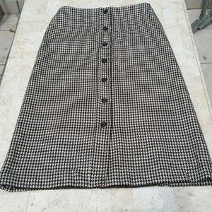 Michael Kors Wool A line Skirt Button Down