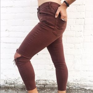 Plum Denim Pants