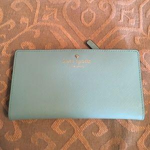 Mint Blue Kate Spade Wallet