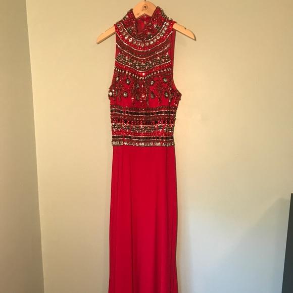 2015 Sherri Hill Mock Neck Prom Dress