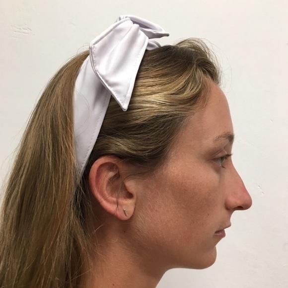 Colette Malouf White Leather Headband Twist 1b1b78728df