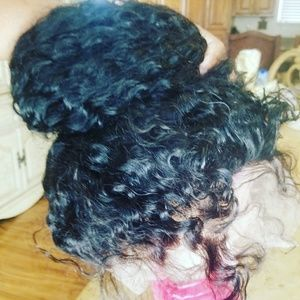Curly Human Hair Full Lace Front 360Wig