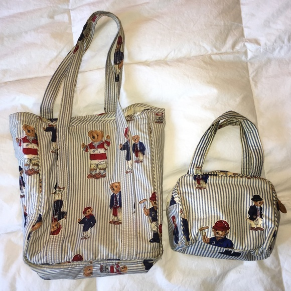 ... Ralph Lauren polo bear tote bag and handbag. M 59d7e62af739bcee0001b0a4 4d0b21eaac4de