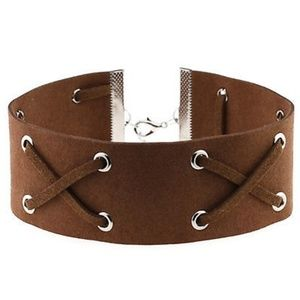 Jewelry - 5 for $25 - Lace Up Leather Choker - 3 Colors