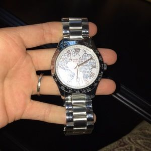 Michael kors accessories micheal kors world map silver watch rose michael kors accessories micheal kors world map silver watch rose gold gumiabroncs Image collections