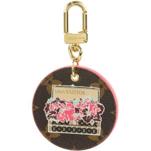 Auth LOUIS VUITTON  Illustre Posies Key bag Charm