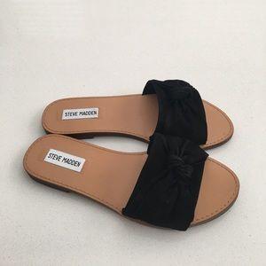 9a3a8c8c238e Steve Madden Shoes - Steve Madden Diora Bow Slide Sandal