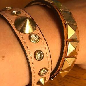 2 studded bracelets