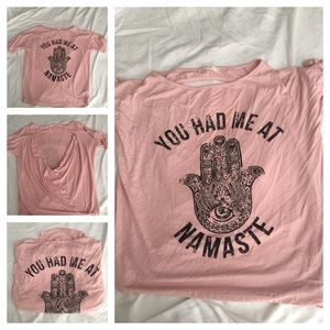 Tops - Pink Namaste Tee