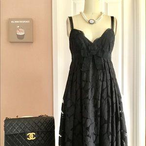 Vintage Anna Sui little black lace dress