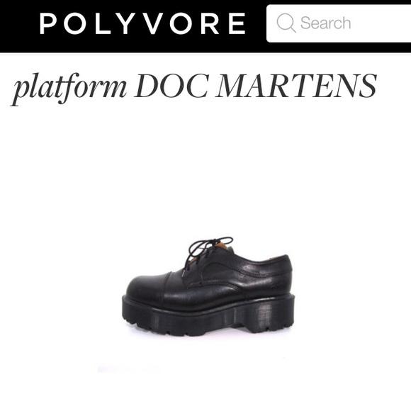 RARE 90's vintage Platform Dr Martens