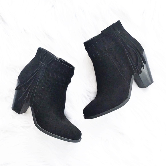 ba0c586bc46 NEW Jessica Simpson suede tassel ankle booties NWT