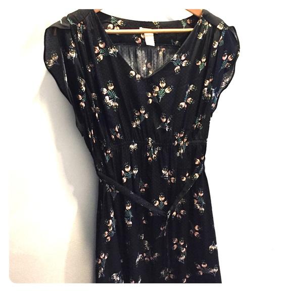 H M Dresses Black Floral Maternity Dress Poshmark