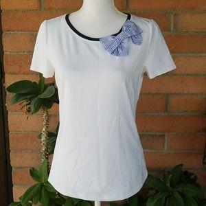 Broome Street kate spade | White T shirt W/Bow