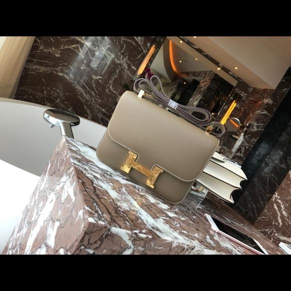 35dd9369b54 Hermes Handbags - Hermes Constance Epsom Etoupe Grey 24