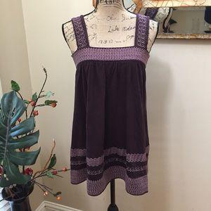 💋BCBGMaxAzria stunning plum embroidered tunic!