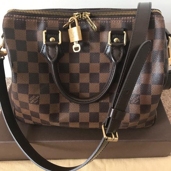 48b6e65b0eec Louis Vuitton Handbags - LOUIS VUITTON Damier Ebene Speedy 25 Bandouliere