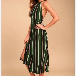 NWT FAITHFULL THE BRAND Tuscany Striped Midi Dress