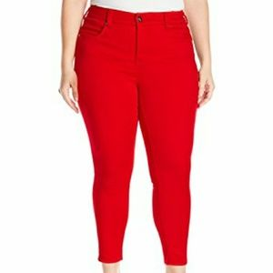 Melissa McCarthy Red Pencil Jeans