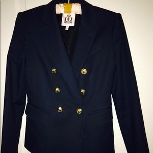 Original Juicy Couture Navy Double breasted blazer