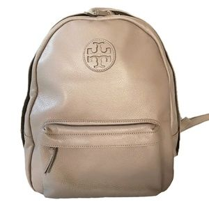Tory Burch French Grey Leather Backpack