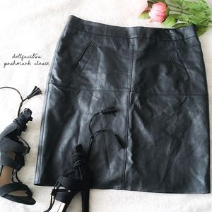 CAbi Faux Leather Skirt