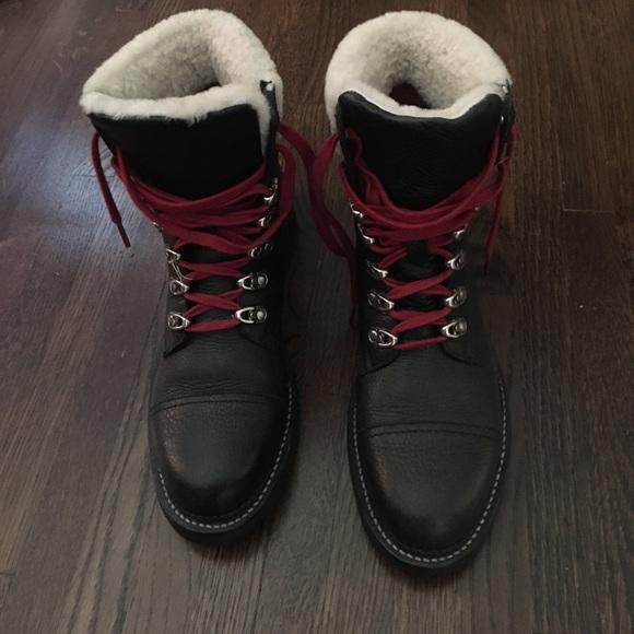 Frye Samantha Shearling & Leather Hiker Boots Ae2owW