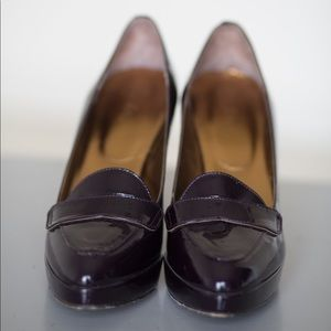 Boden patent leather eggplant/plum heels