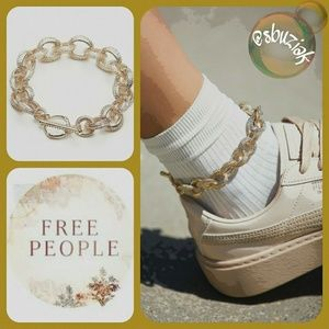Free People Chain Link Metal Anklet
